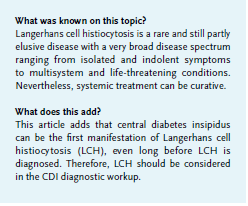 Article Central Diabetes Insipidus Beware Of Langerhans Cell